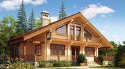 Деревянный дом под ключ из бруса и клееного бруса